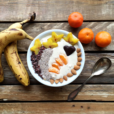 Smoothie bowl vegan rezept