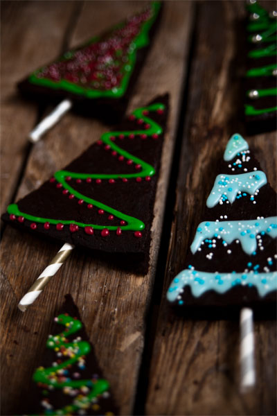 weihnachts brownies backen