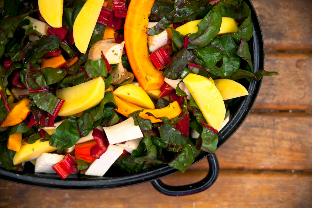 Herbstliches Ofengemüse vegan