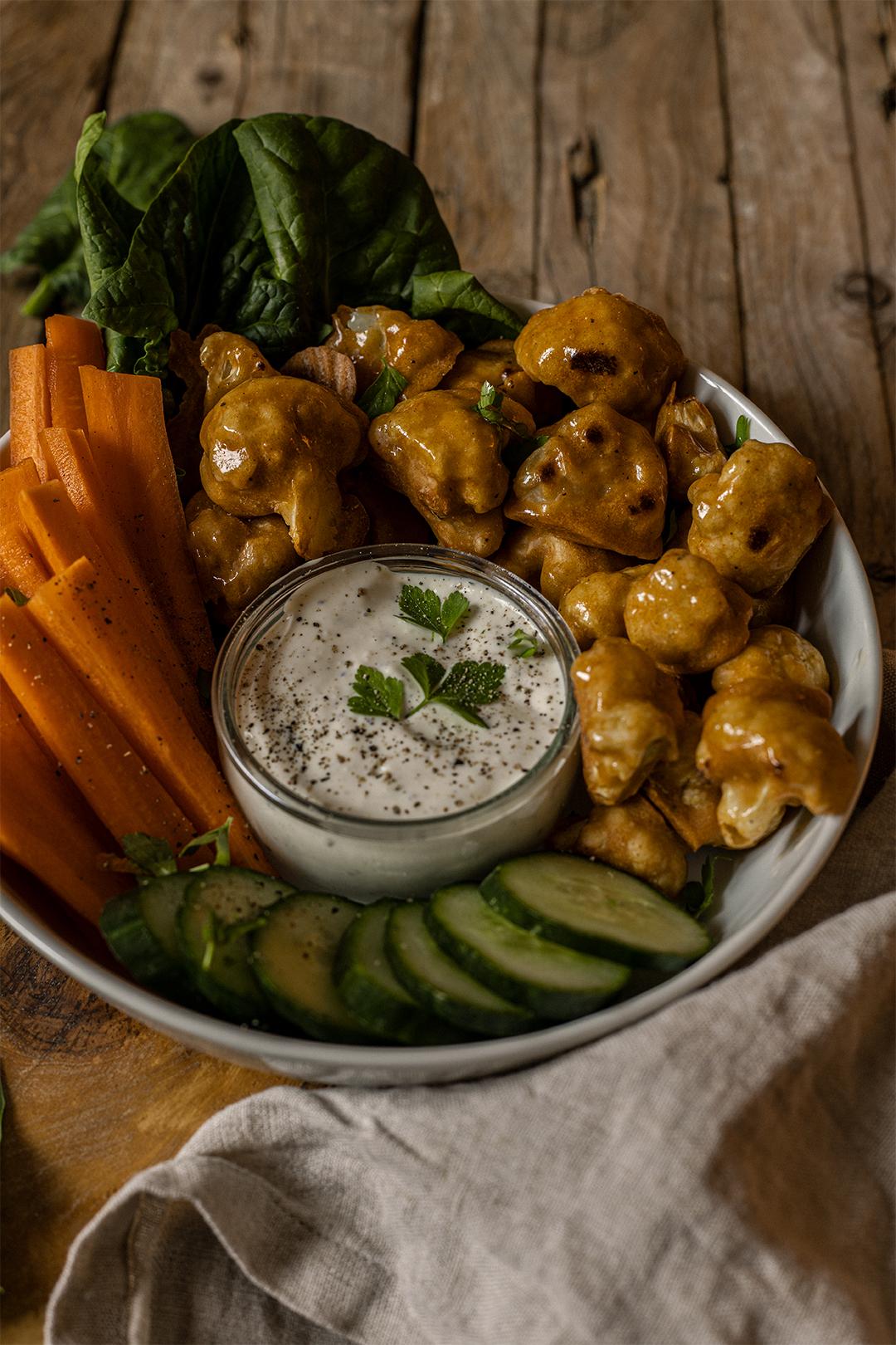 Buffalowings veganmom rezept