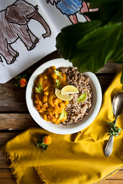 kichererbsen curry vegan rezept