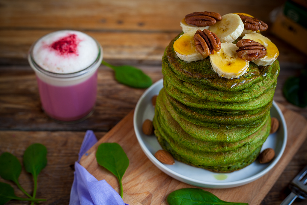 Grüne Pancakes Vegan Rezept