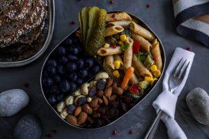 Fettreduzierter Nudelsalat vegan Rezept