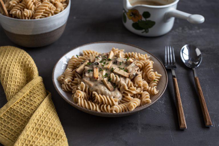 Alfredo Pasta vegan rezept