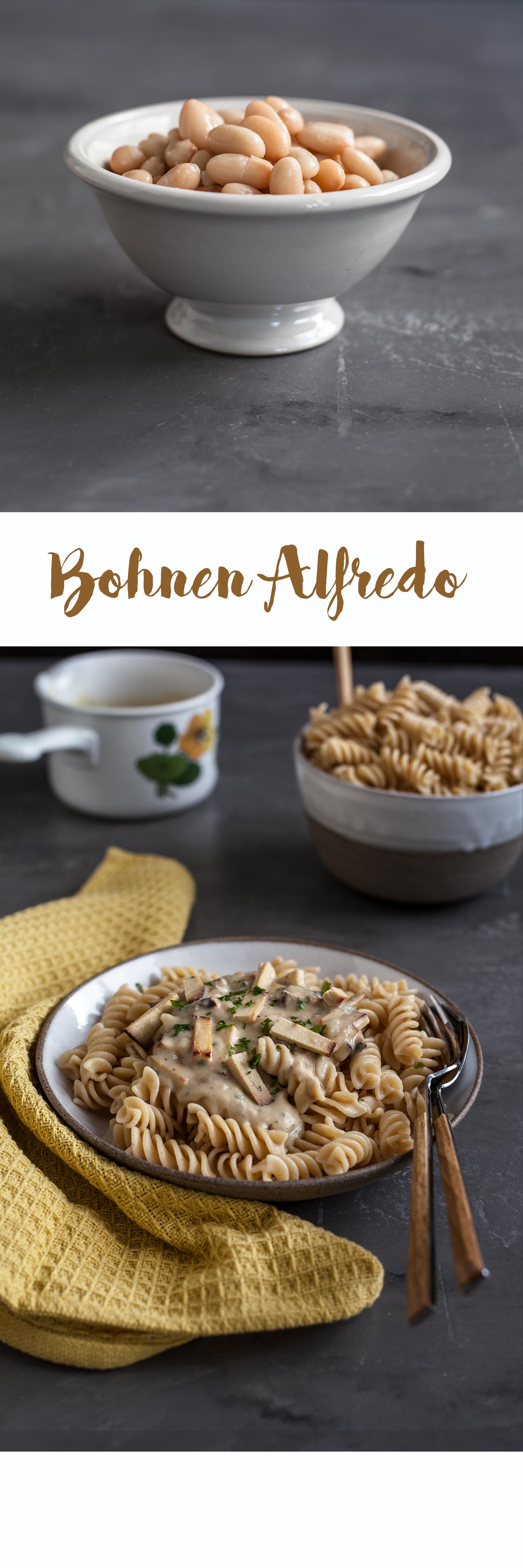 Bohnen Alfredo Rezept