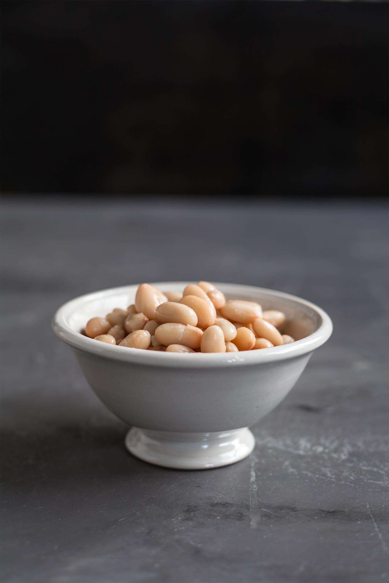 Nudelsauce aus weißen Bohnen