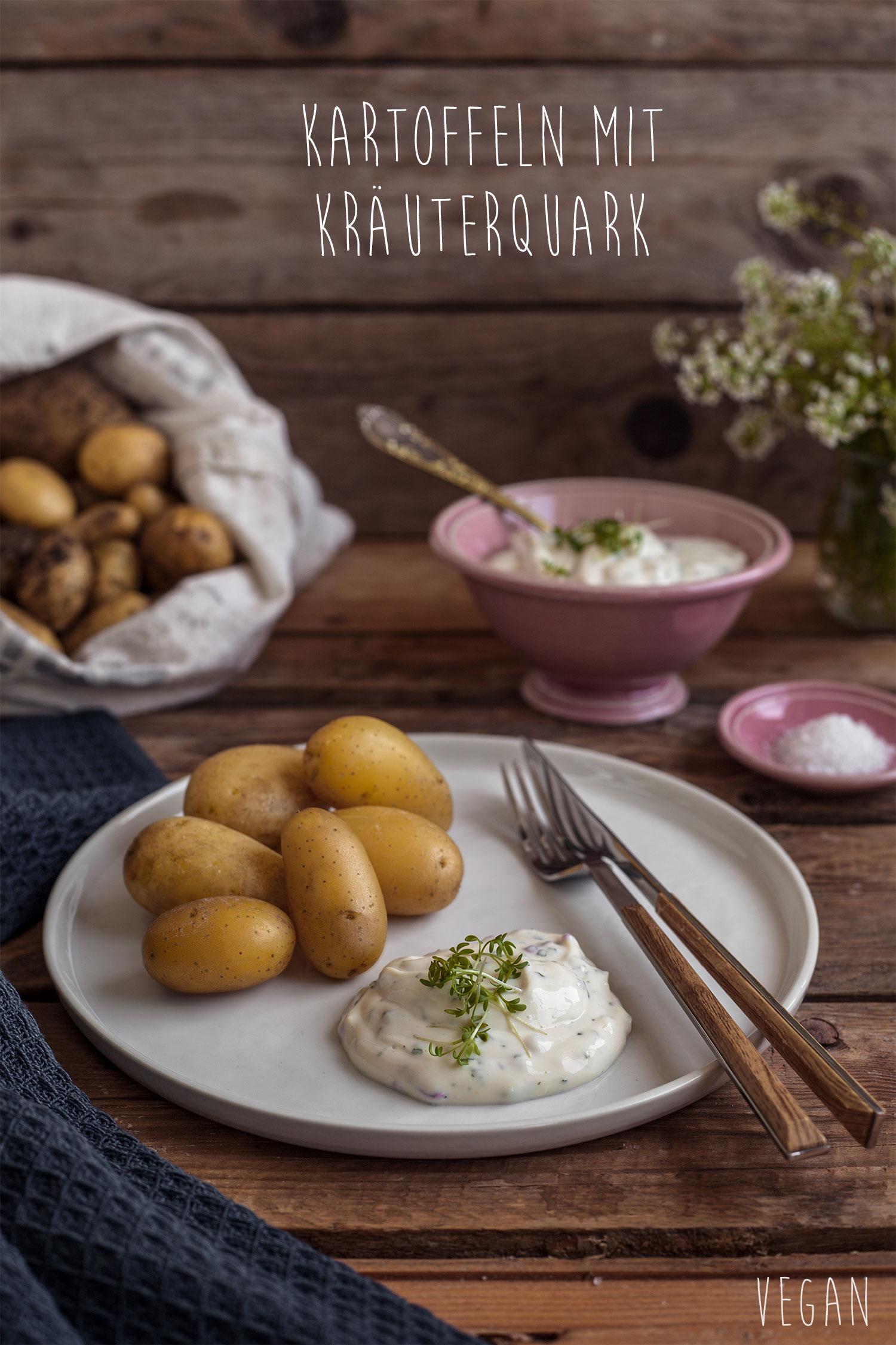 Kartoffeln mit Kräuterquark vegan