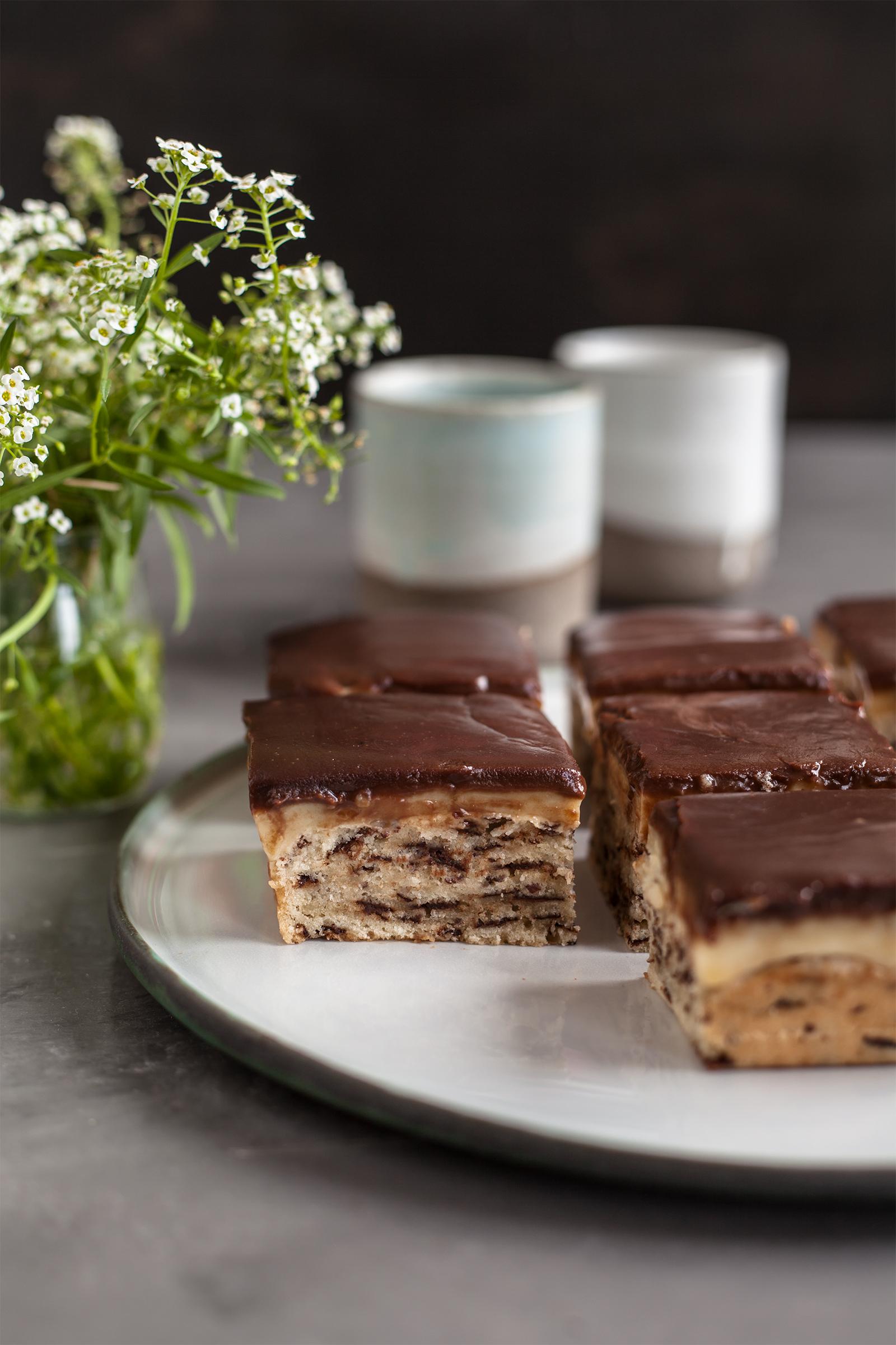 Schoko vanille Kuchen Vegan Rezept