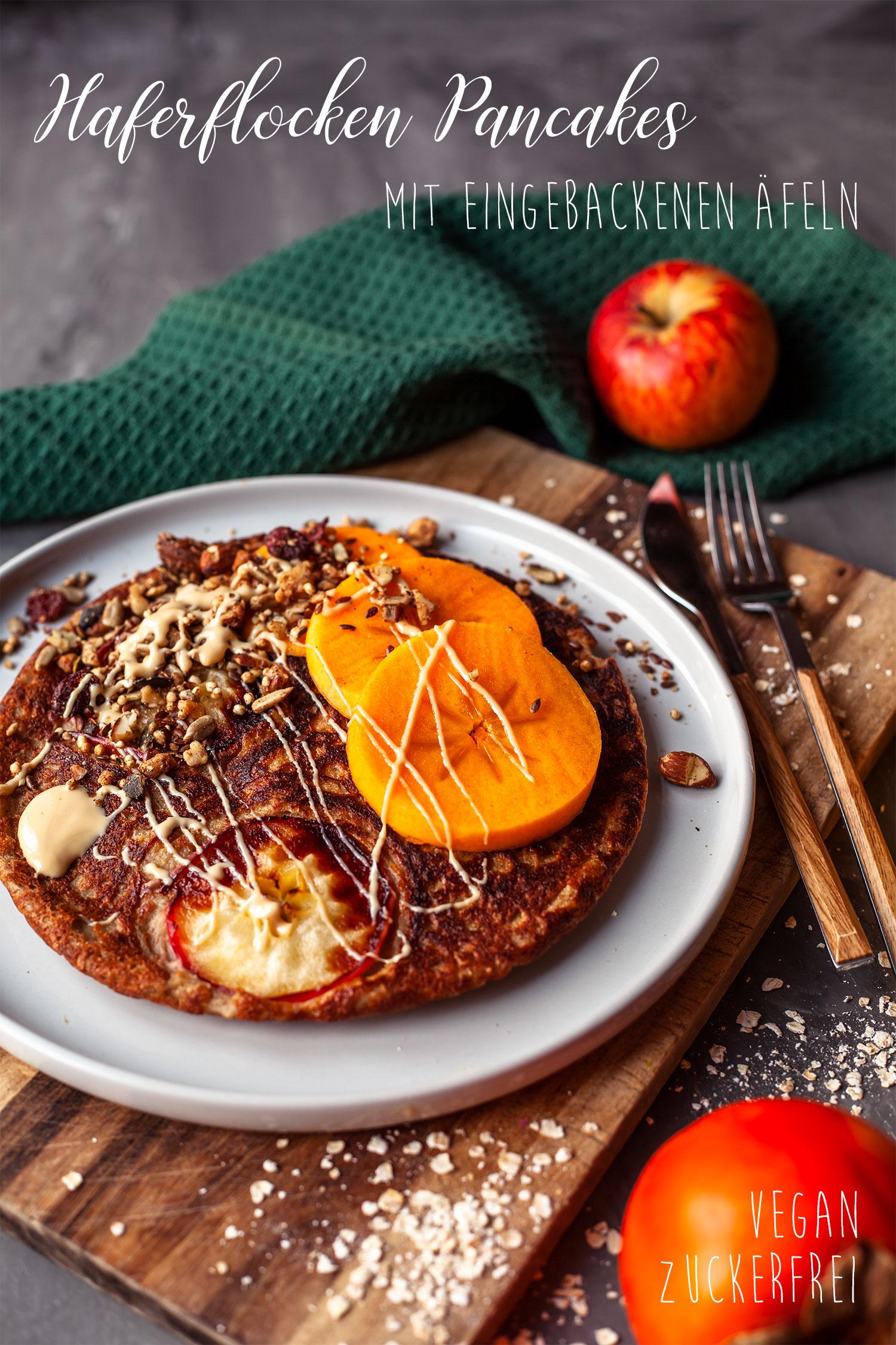 Haferflocken Apfel Pancakes