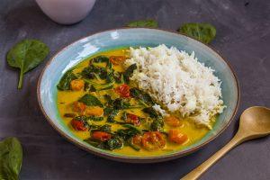 Spinatcurry vegane rezepte