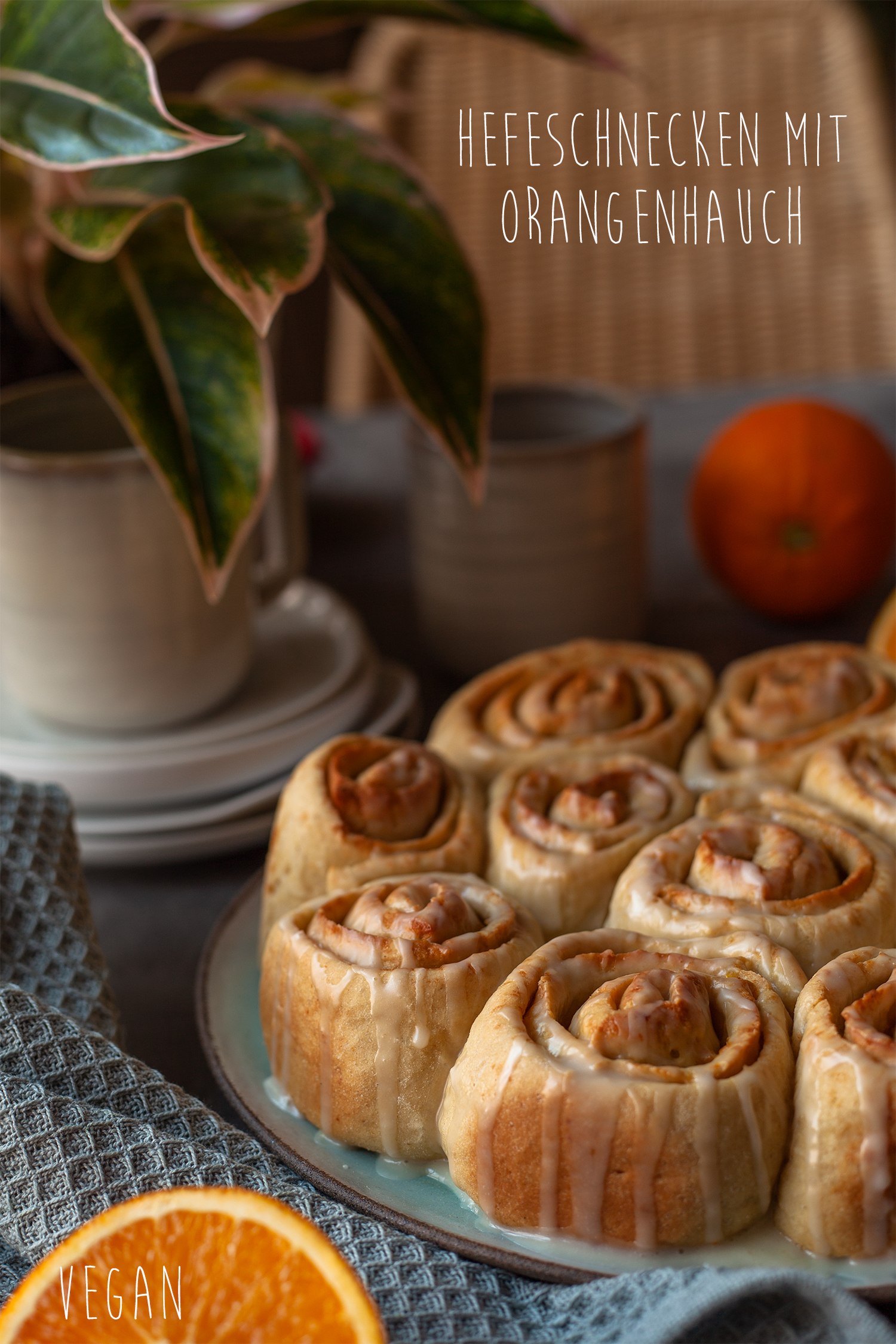 vegane Hefeschnecken mit Orange Pinterest