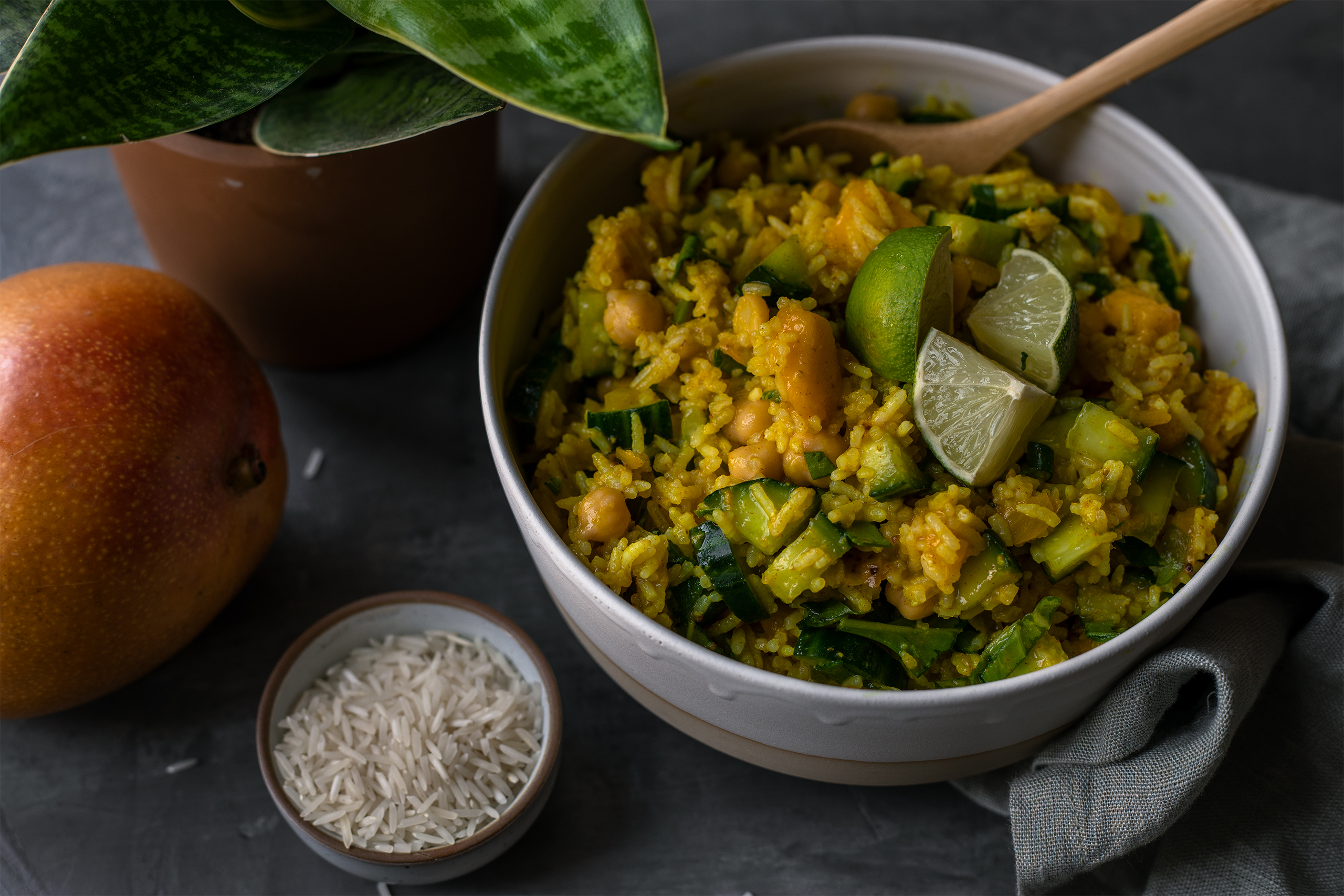 Curry Reissalat vegan rezept