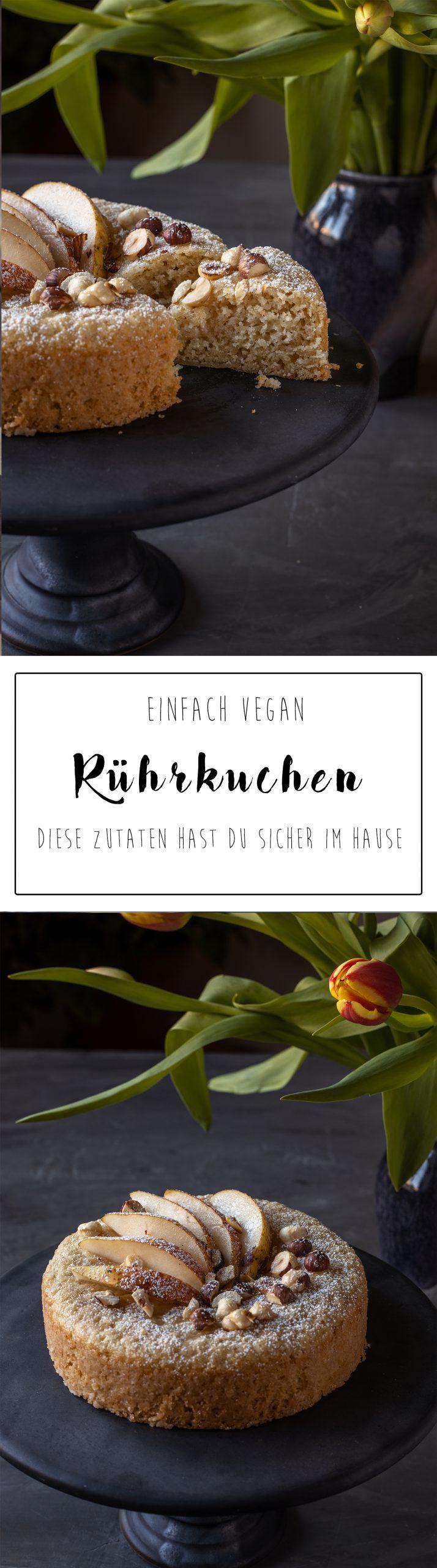 Rührkuchen vegan Pinterest