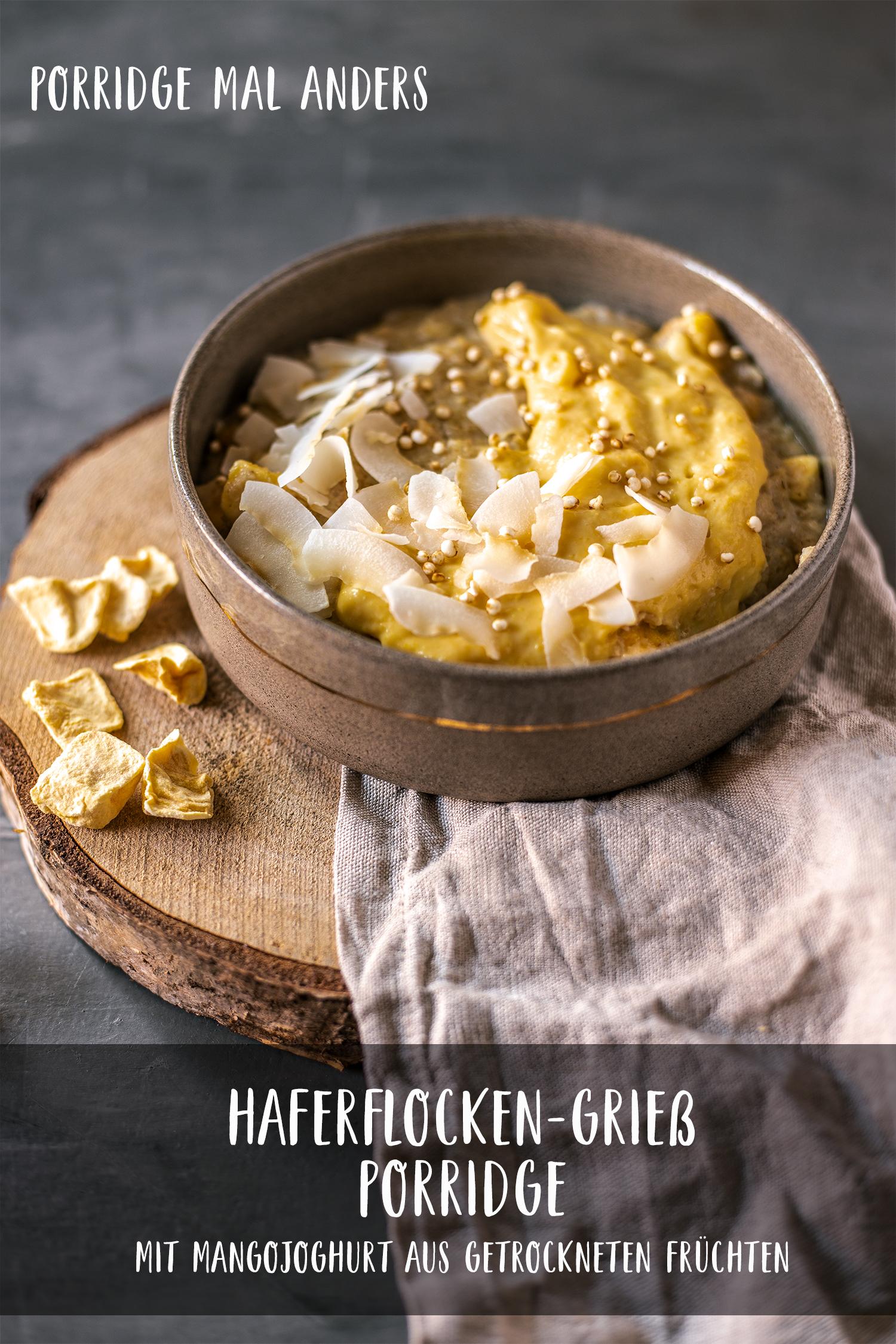 Mango porridge pinterest
