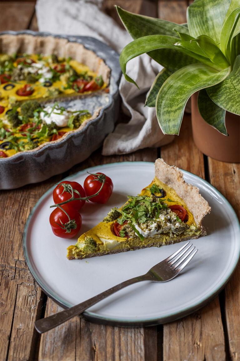 GemüseQuiche ohne Ei