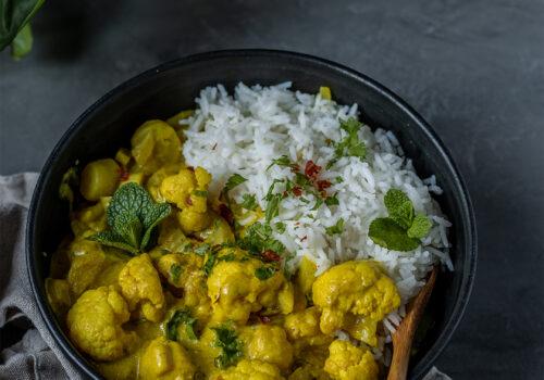 Mildes Curry vegan rezept