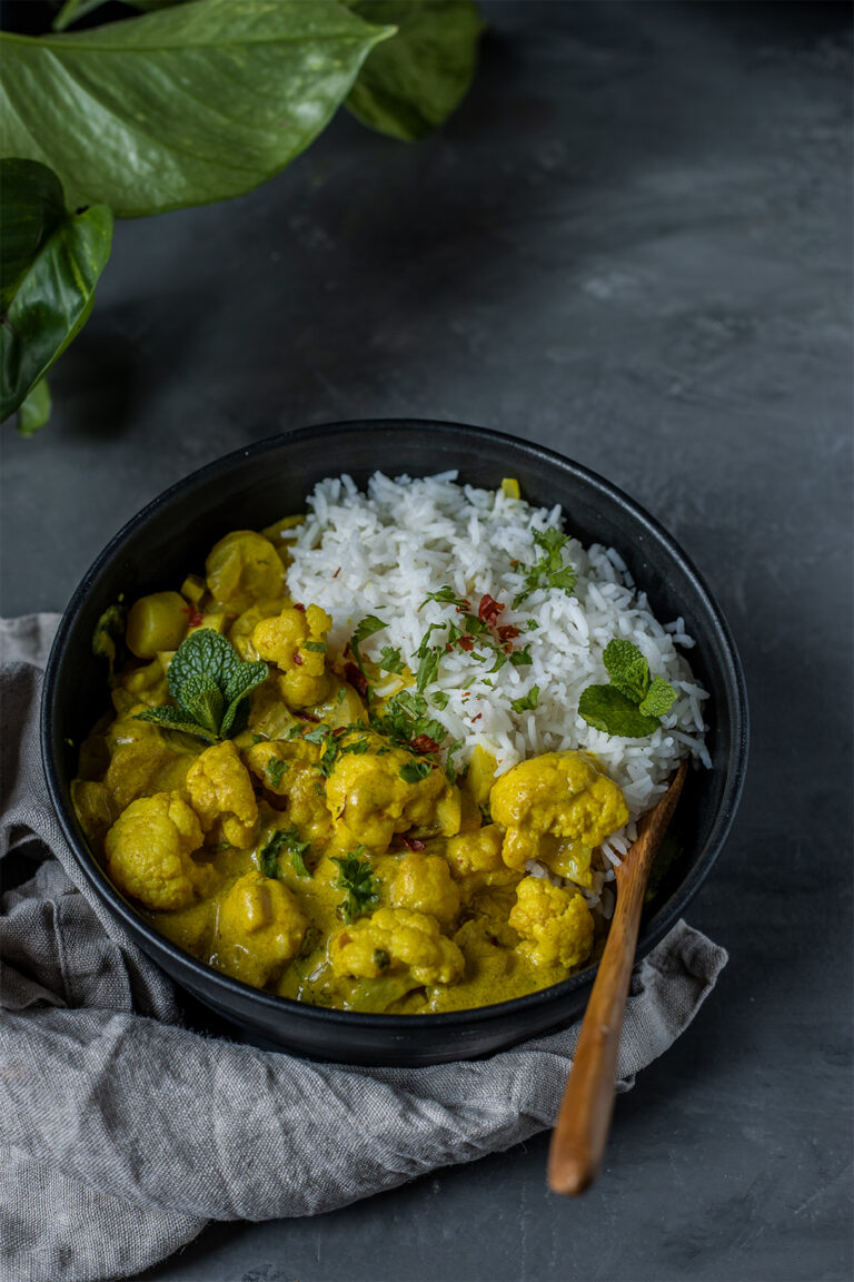 Mildes Curry vegan rezept
