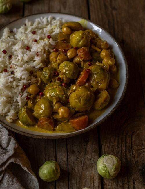 Rosenkohl curry rezept