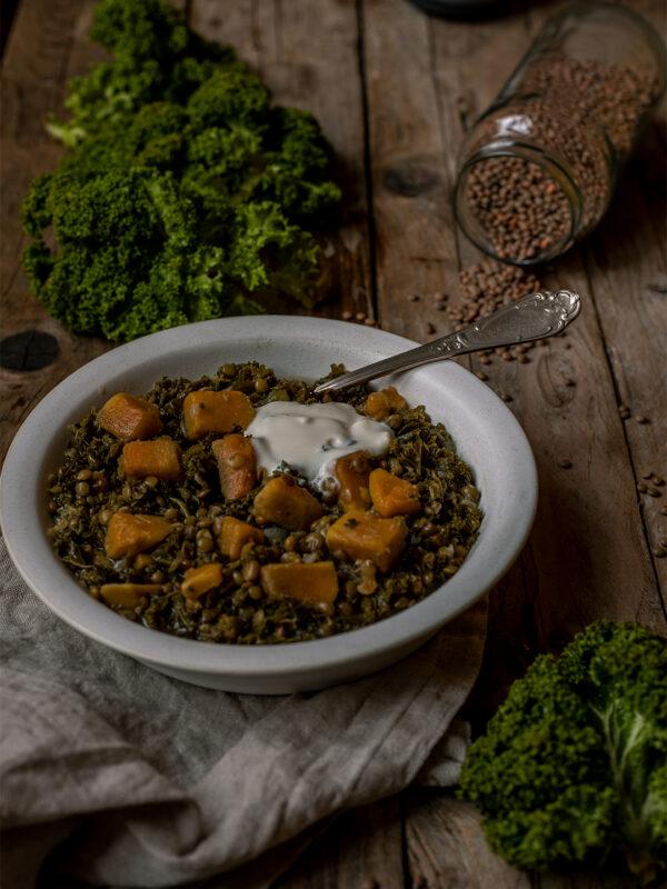 Süßkartoffel Grünkohl Eintopf vegan Rezept