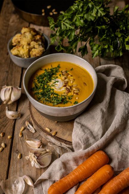 Karottensuppe vegan rezept