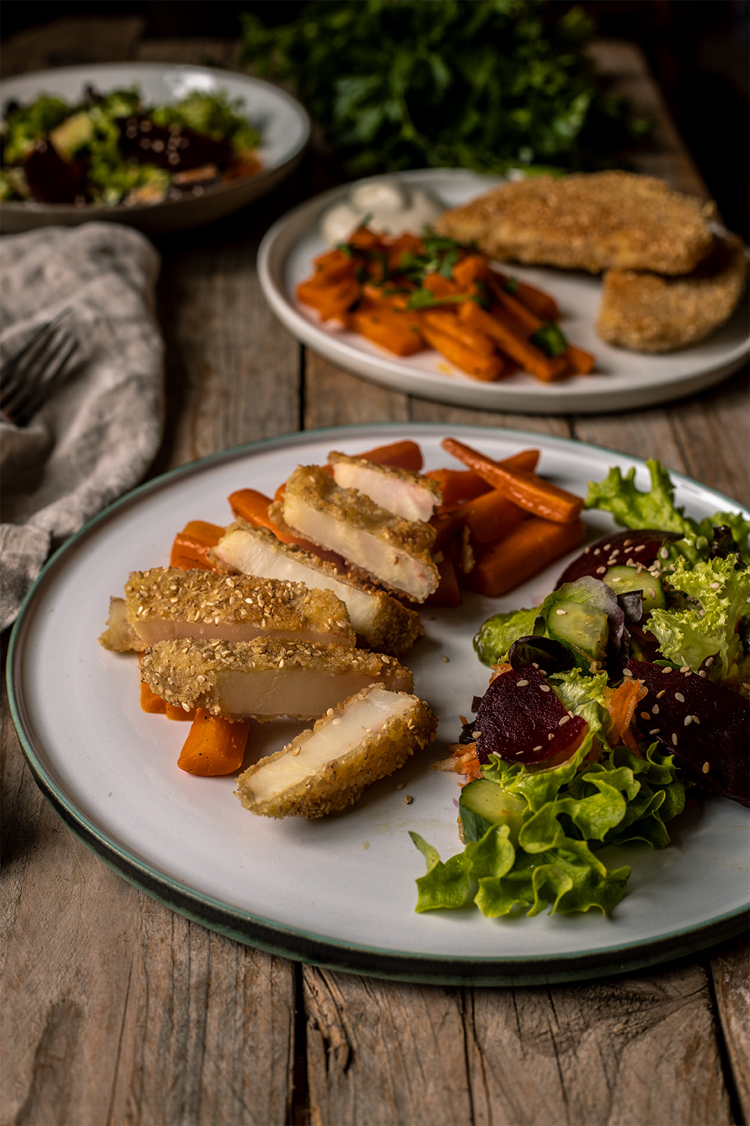 Schnitzel aus Sellerie vegan blog