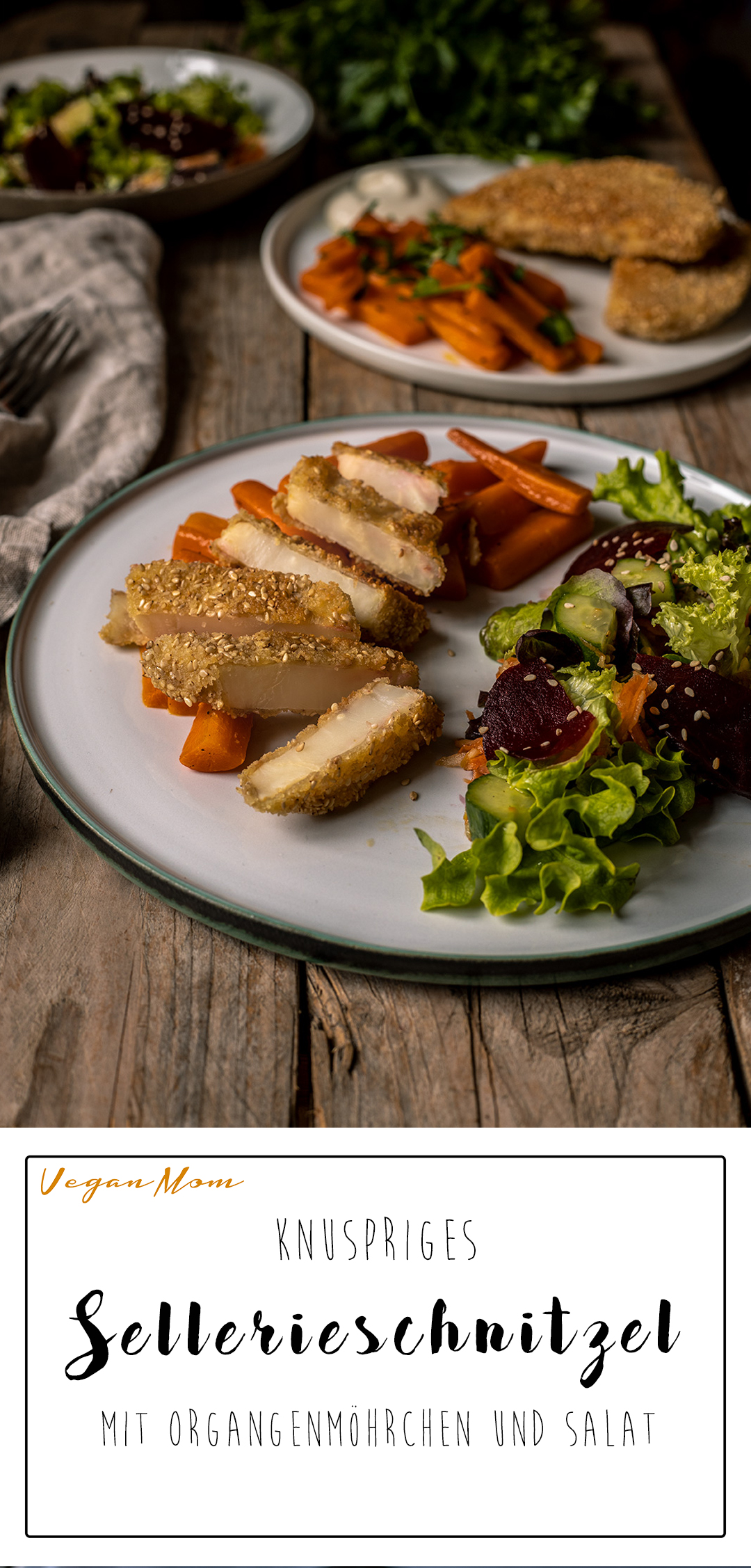 Sellerieschnitzel rezept vegan
