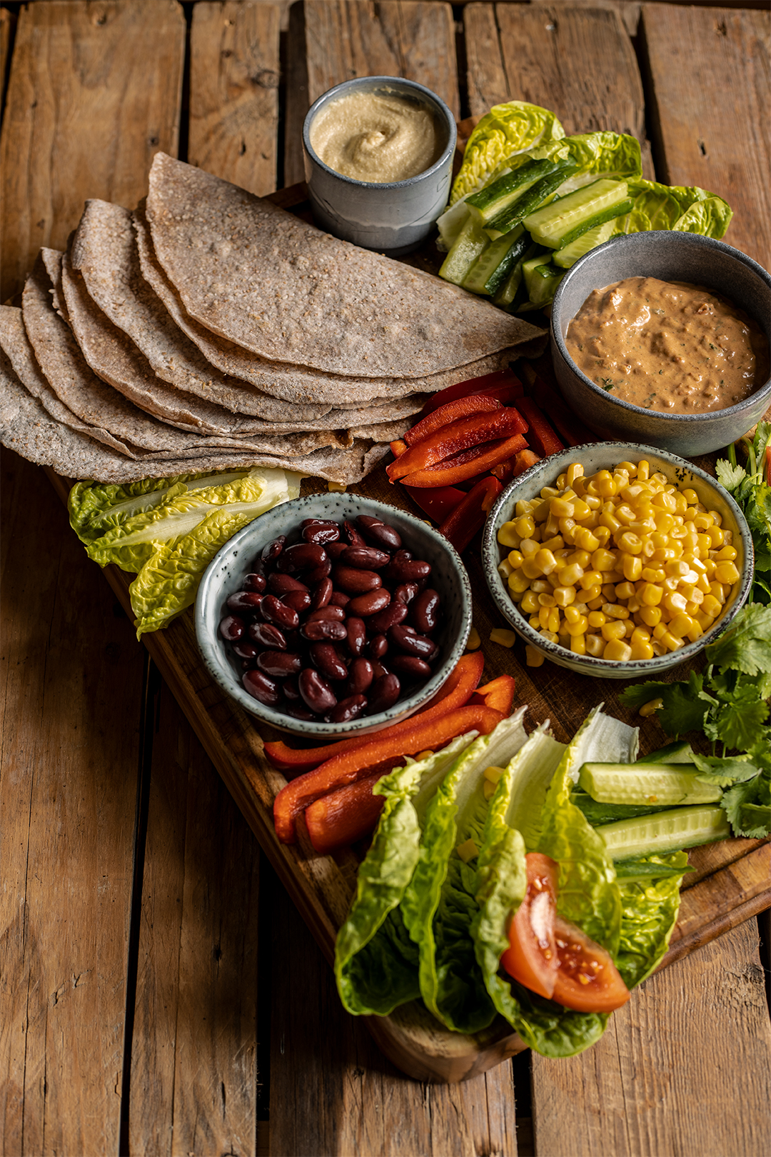 Tortilla wraps vegan