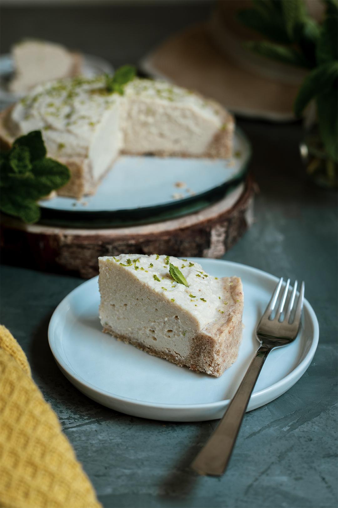 Limetten Joghurt kuchen--vegan