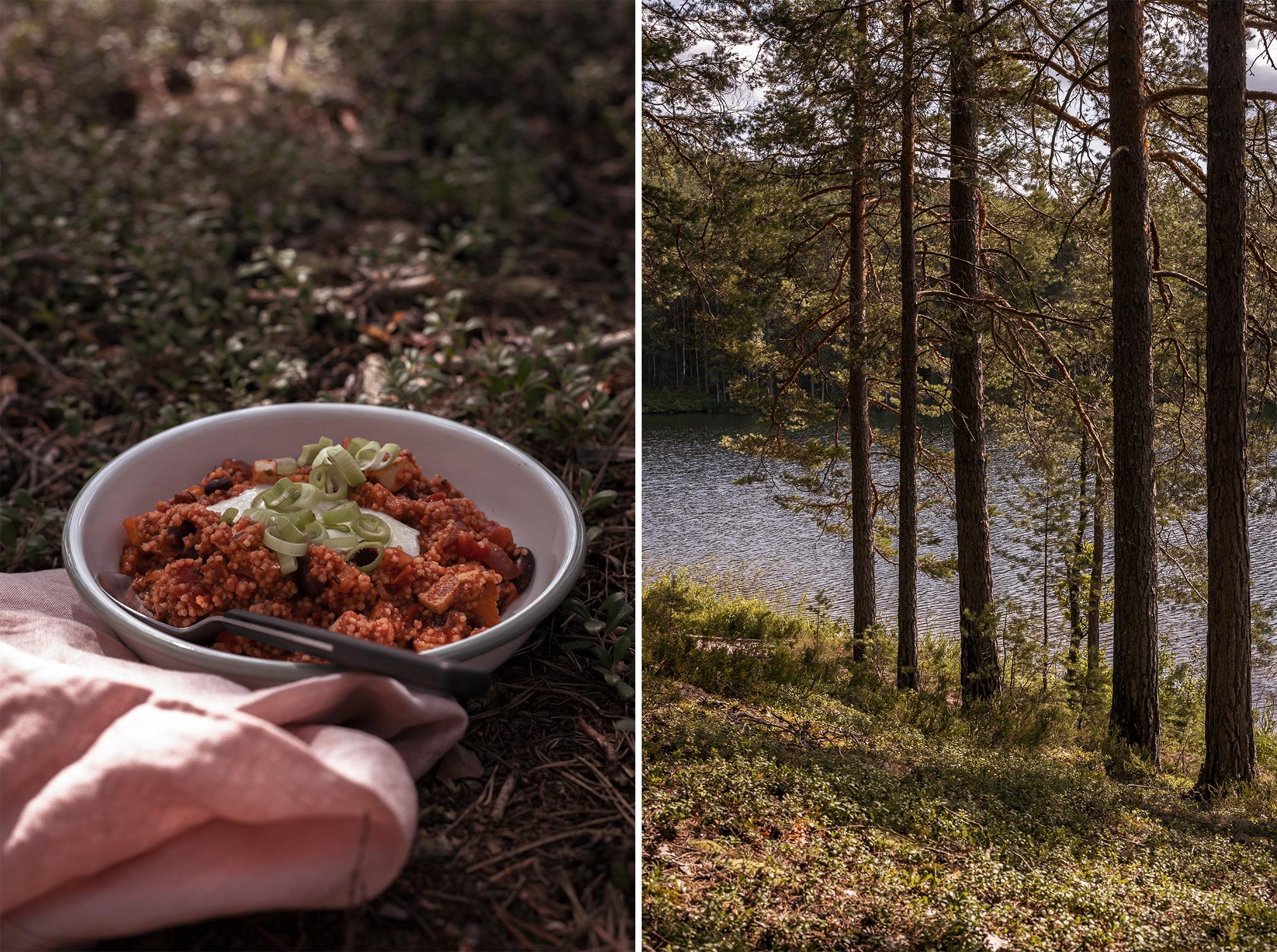 Hirsepfanne vegan camping-Rezepte