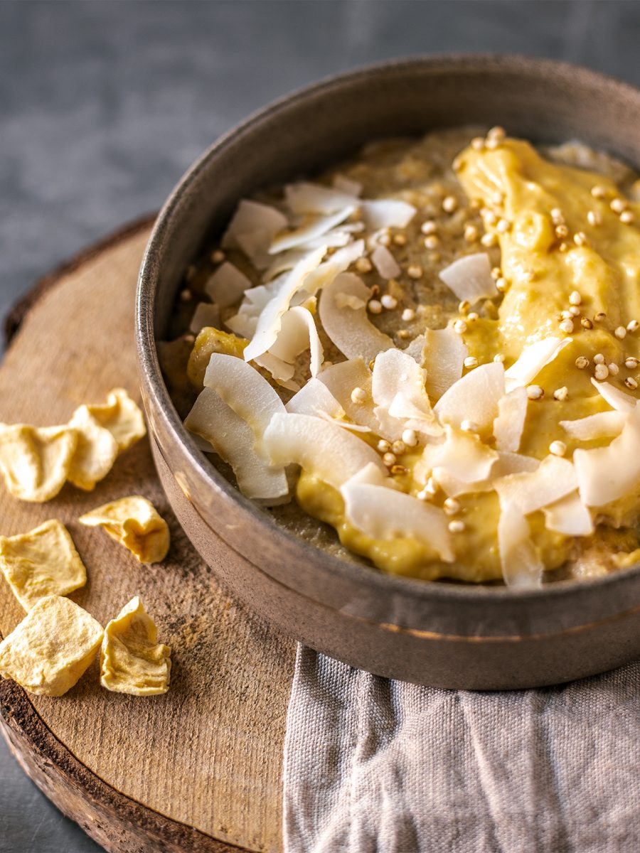Griess porridge vegan rezept