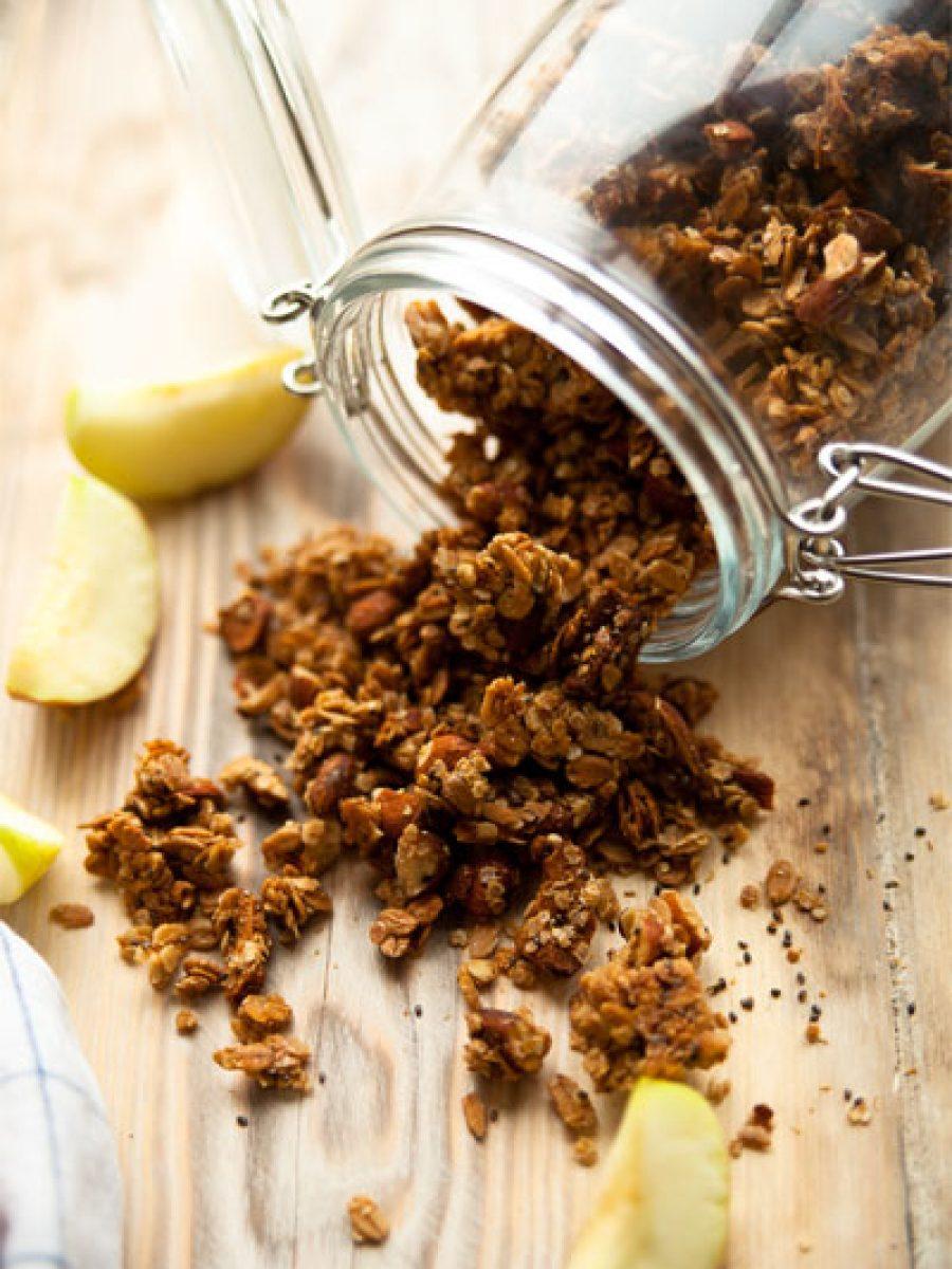 Knuspermüsli selber machen granola vegan mom