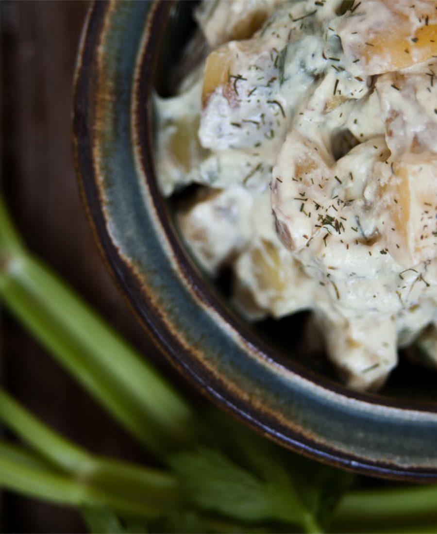 kartoffelsalat mit jogurt dill dressing