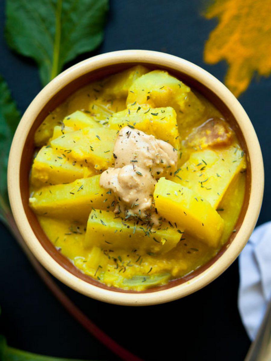 mildes curry vegan